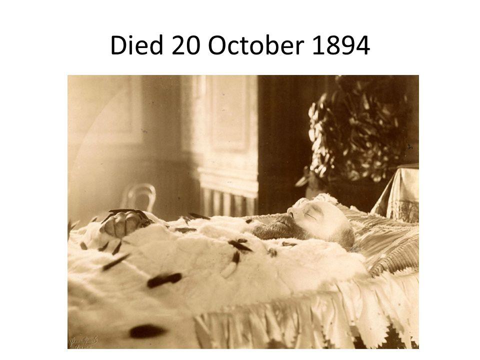 Died 20 October 1894
