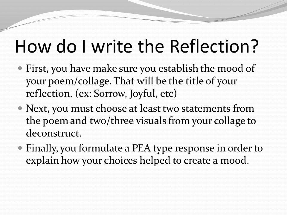 How do I write the Reflection.