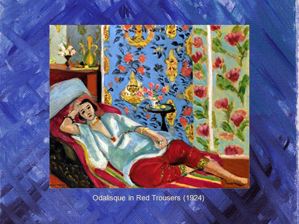 Odalisque in Red Trousers (1924)