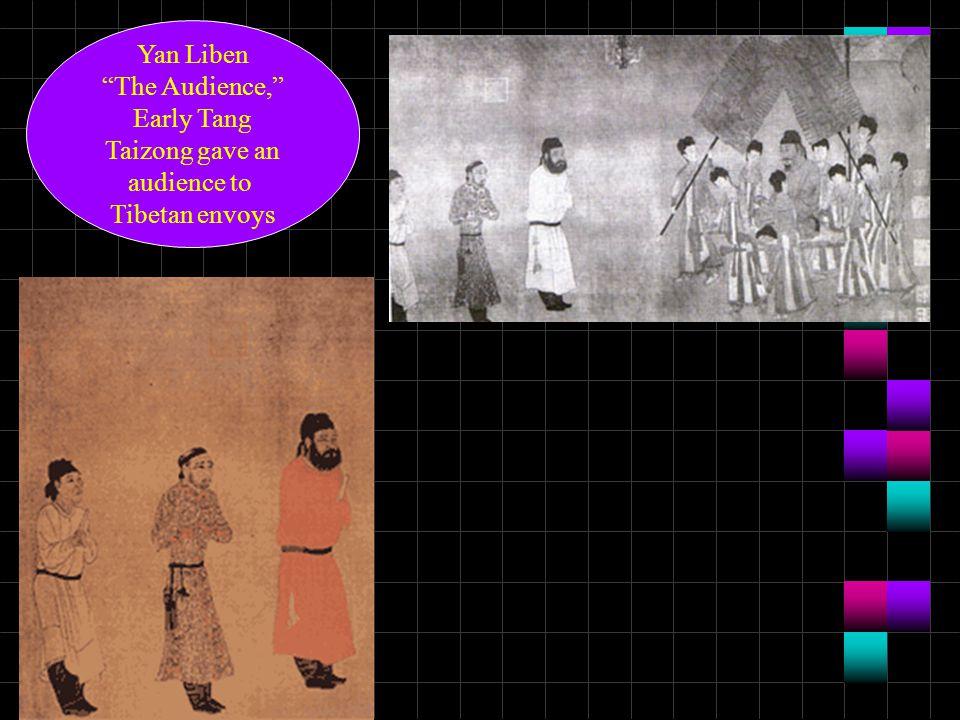 "Yan Liben ""The Audience,"" Early Tang Taizong gave an audience to Tibetan envoys"