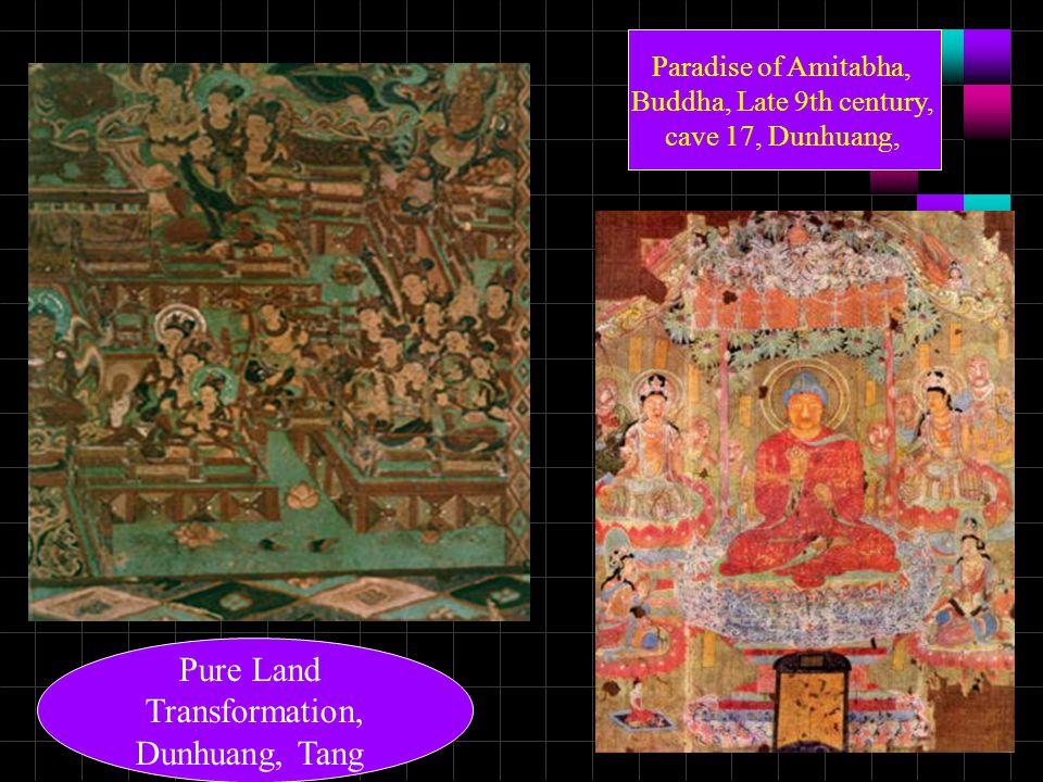 Pure Land Transformation, Dunhuang, Tang Paradise of Amitabha, Buddha, Late 9th century, cave 17, Dunhuang,