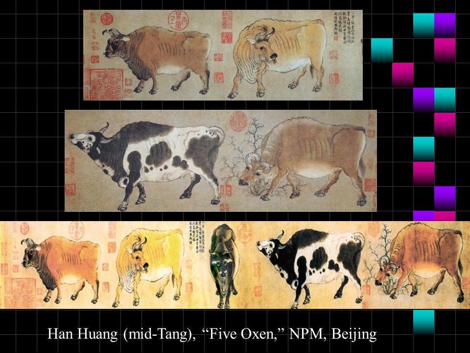 "Han Huang (mid-Tang), ""Five Oxen,"" NPM, Beijing"