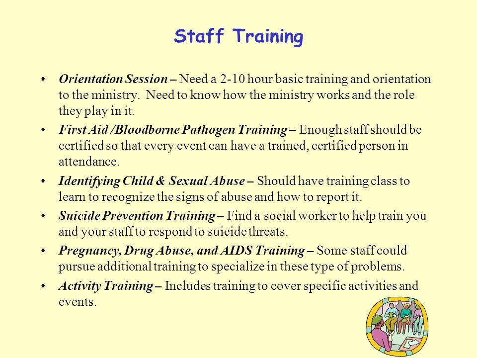 Staff Screening (includes volunteers) A written application - Should include the following questions: Have you been convicted of a criminal offense.