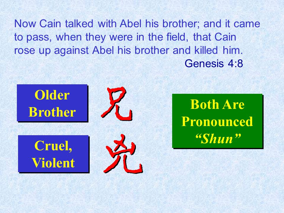 Now Cain talked with Abel his brother; and it came to pass, when they were in the field, that Cain rose up against Abel his brother and killed him.