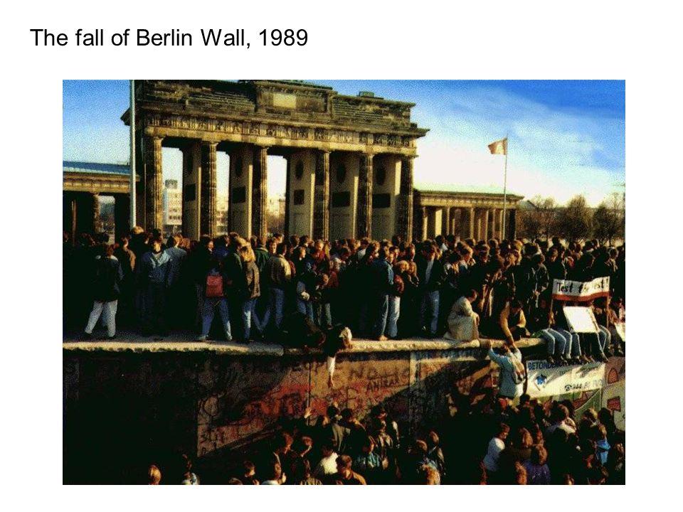 The fall of Berlin Wall, 1989