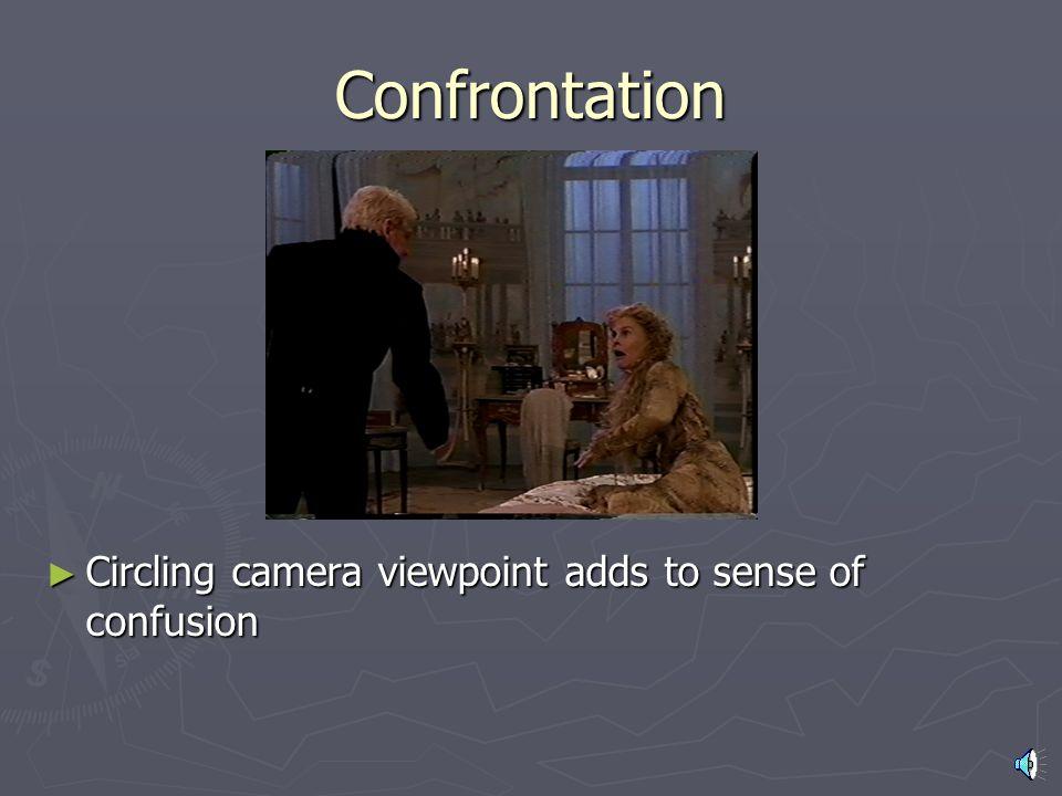 Camera Work ► Camera movements communicate emotion ► Camera angles communicate power