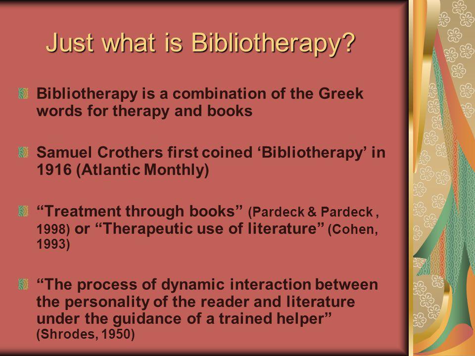 Alternative Terminology Alternative Terminology Bibliocounseling Bibliopsychology Biblio-Linking Biblio-Matching Bookmatching Literatherapy Library therapeutics Guided reading Biblioguidance