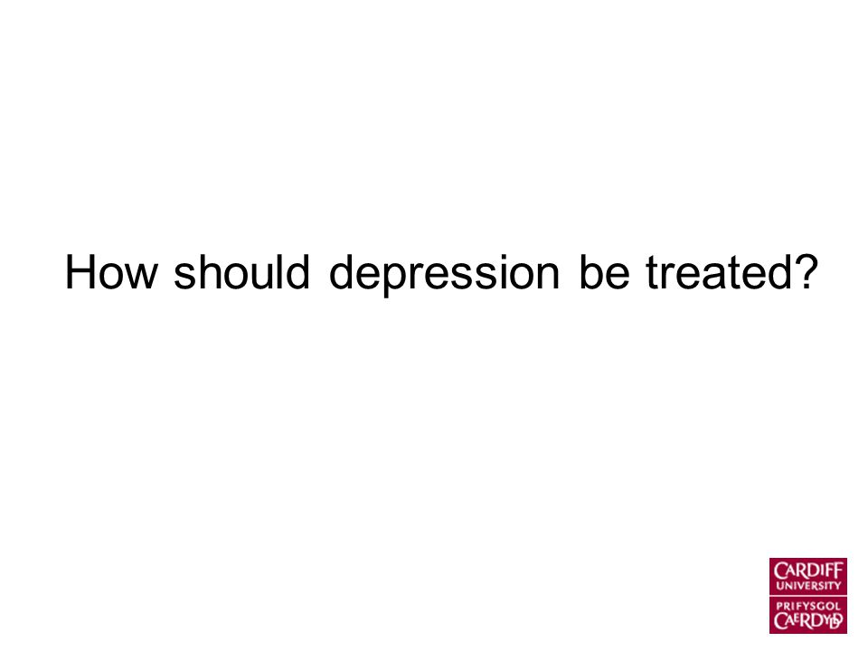 How should depression be treated