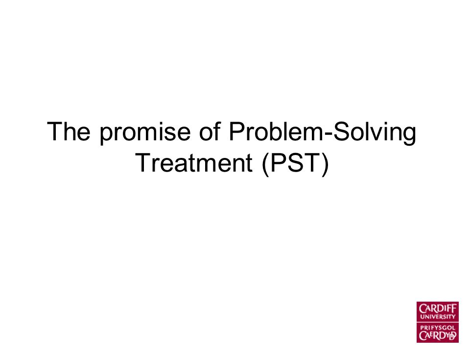 The promise of Problem-Solving Treatment (PST)