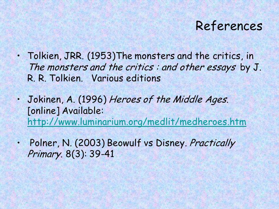References Tolkien, JRR.