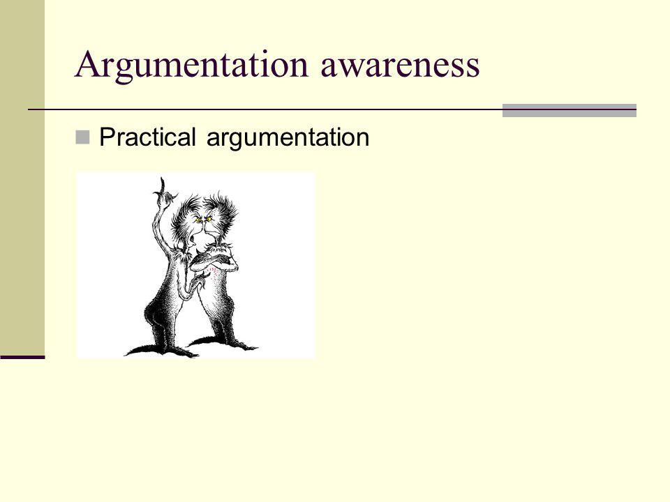 Argumentation awareness Practical argumentation