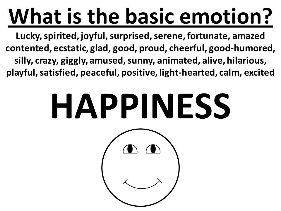 What is the basic emotion.