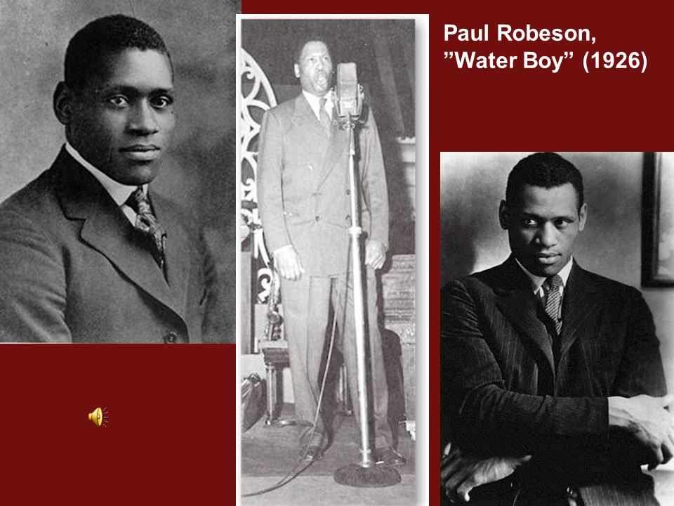 Paul Robeson, Water Boy (1926)