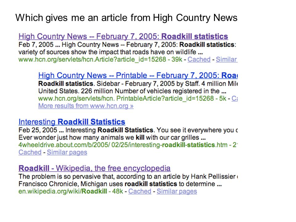 Which gives me an article from High Country News