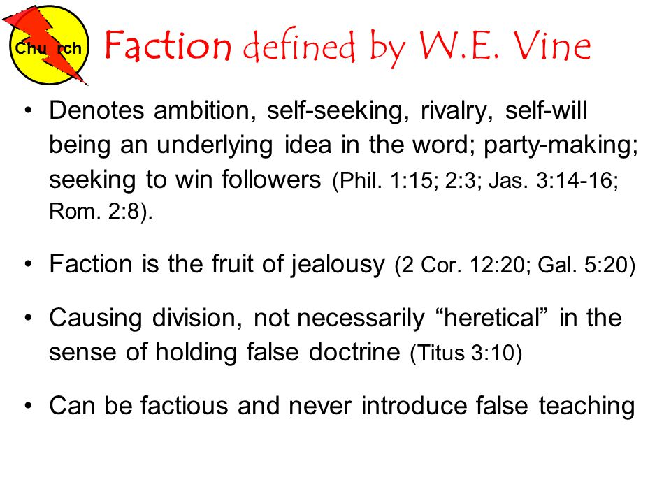 Faction defined by W.E.