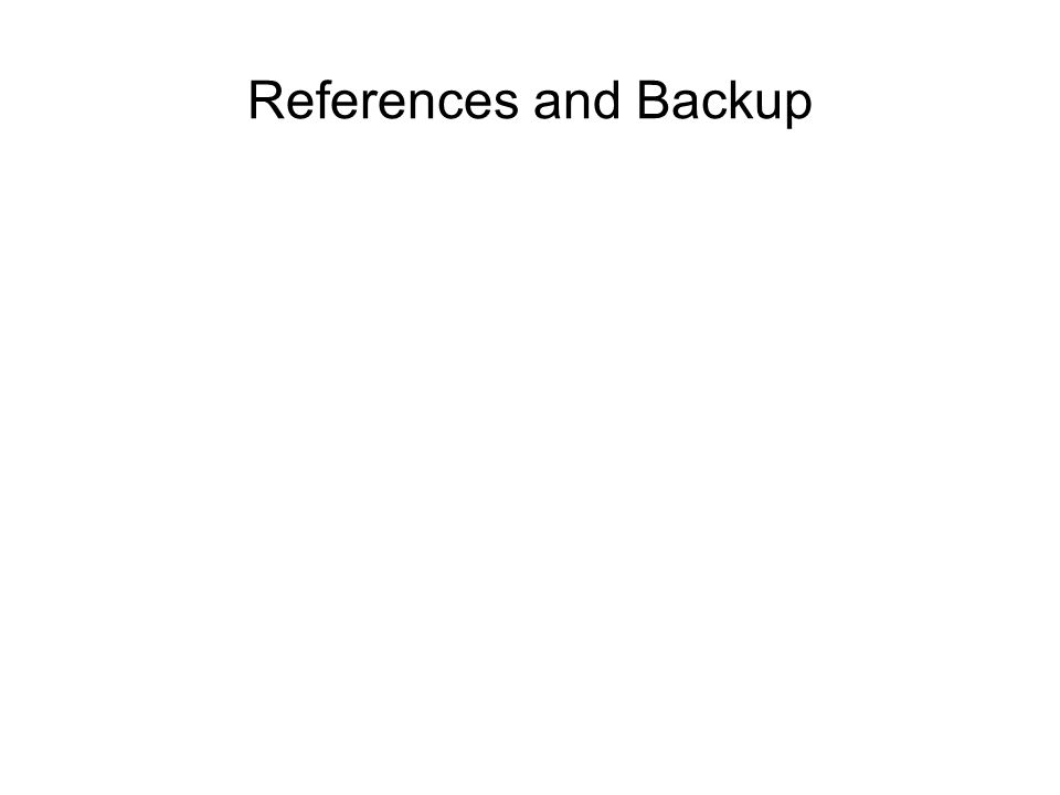 References and Backup