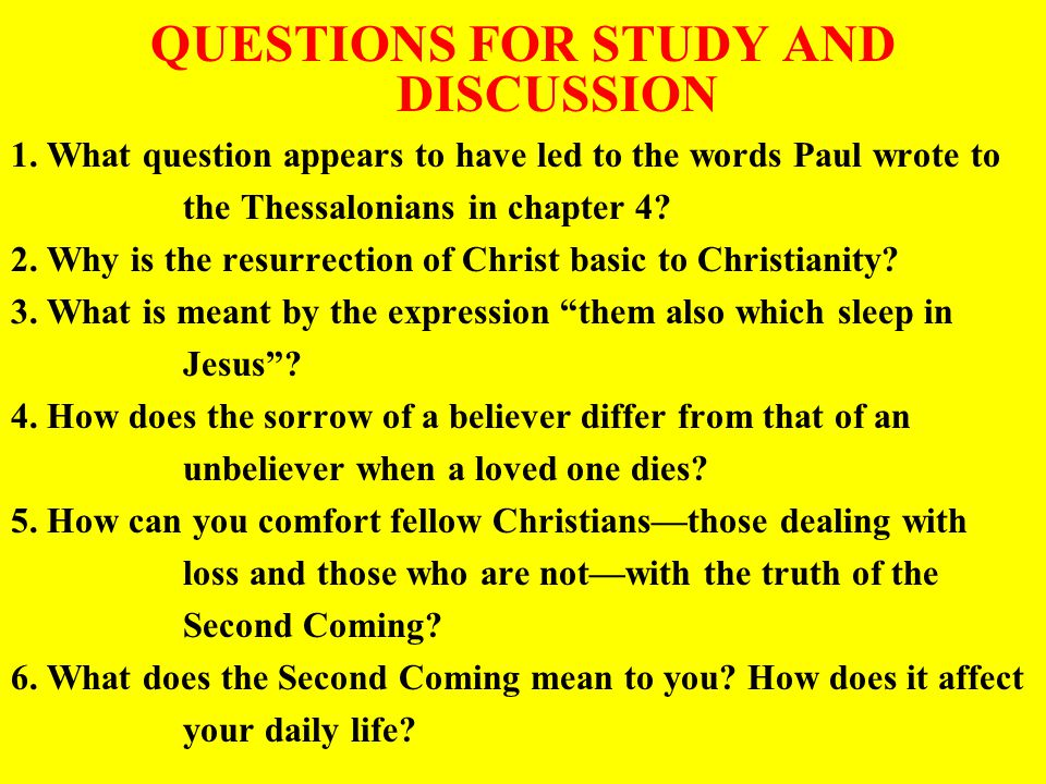 QUESTIONS FOR STUDY AND DISCUSSION 1.