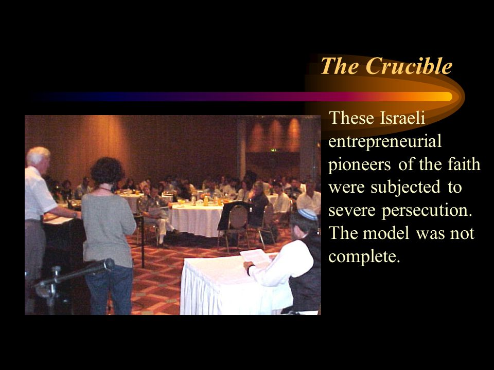The Crucible These Israeli entrepreneurial pioneers of the faith were subjected to severe persecution.