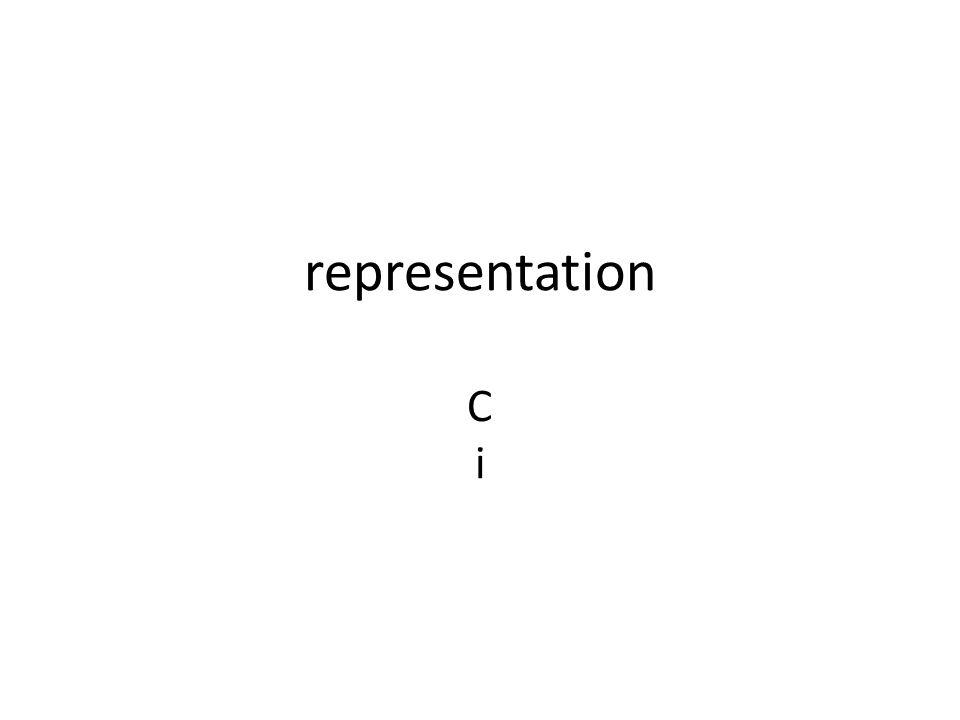 representation C i