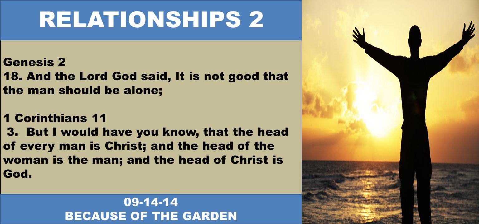 Genesis 2 18.