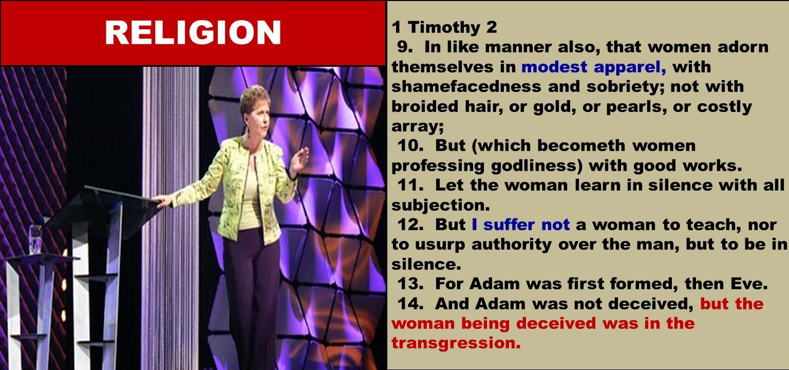 1 Timothy 2 9.