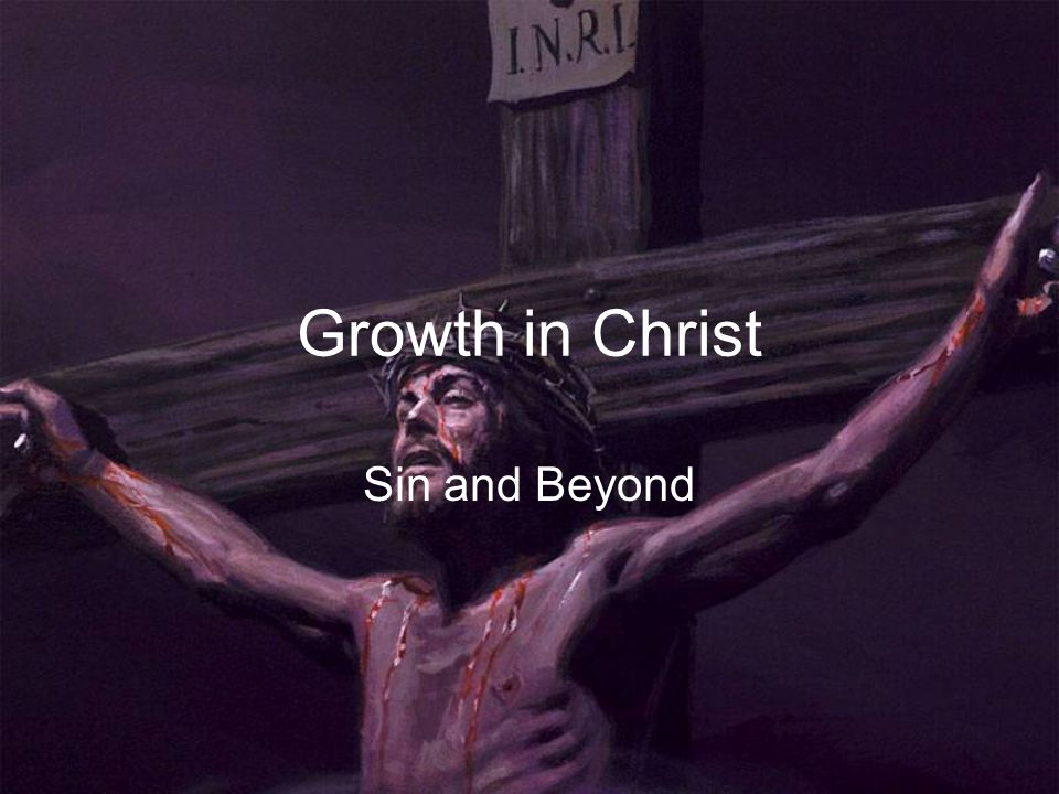 Growth in Christ Sin and Beyond