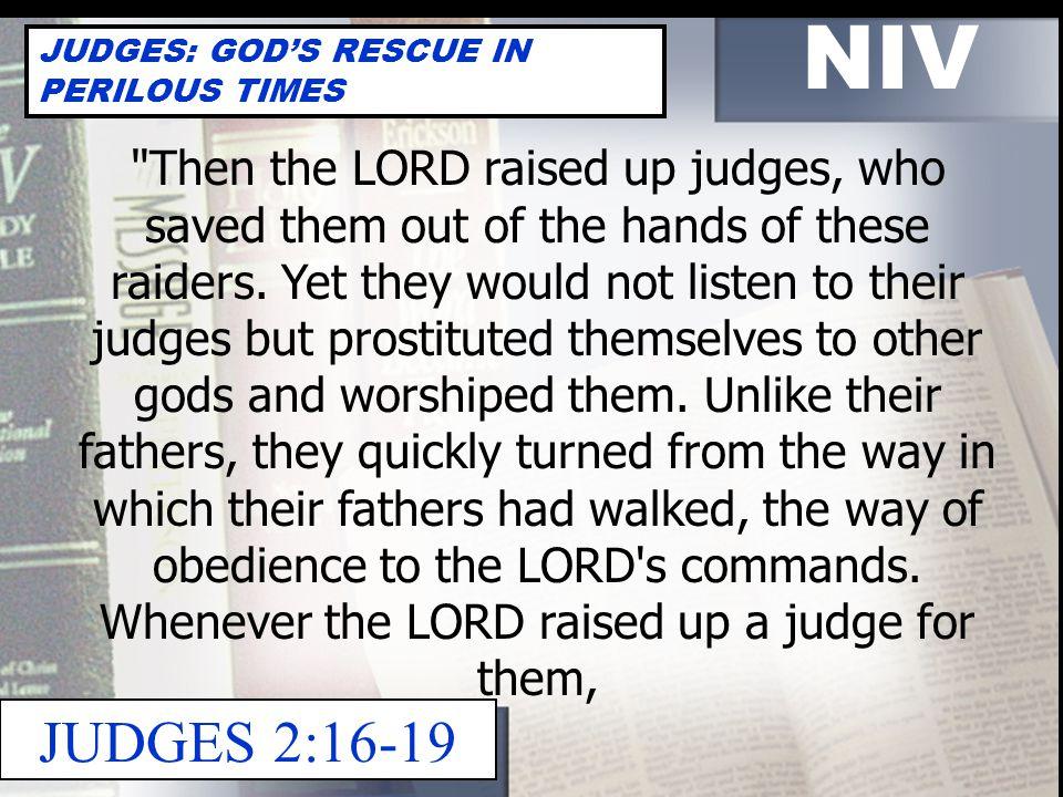 NIV JUDGES: GOD'S RESCUE IN PERILOUS TIMES 2 COR.