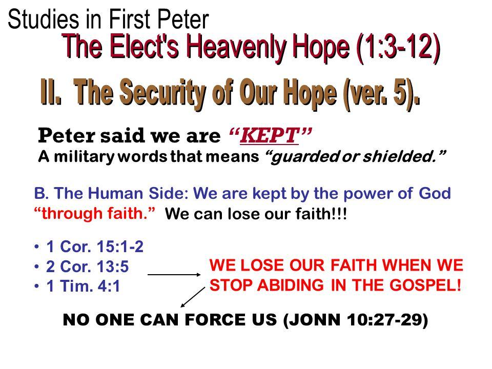 Peter said we are KEPT B.