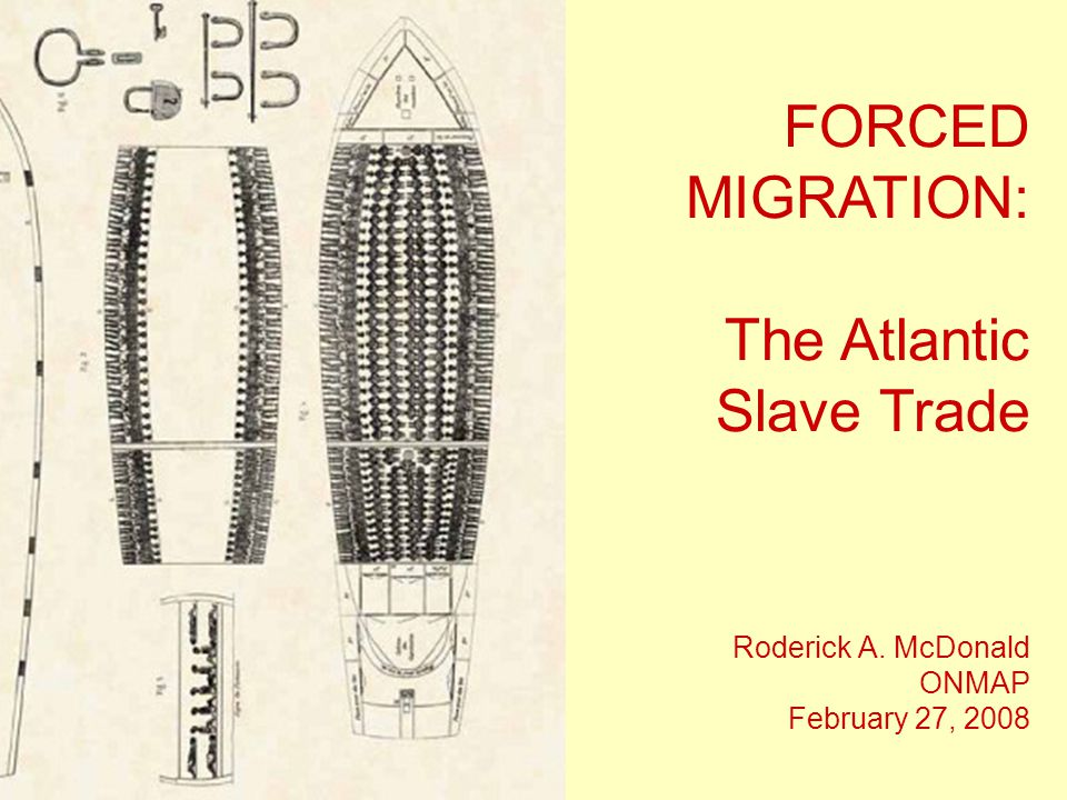 FORCED MIGRATION: The Atlantic Slave Trade Roderick A. McDonald ONMAP February 27, 2008