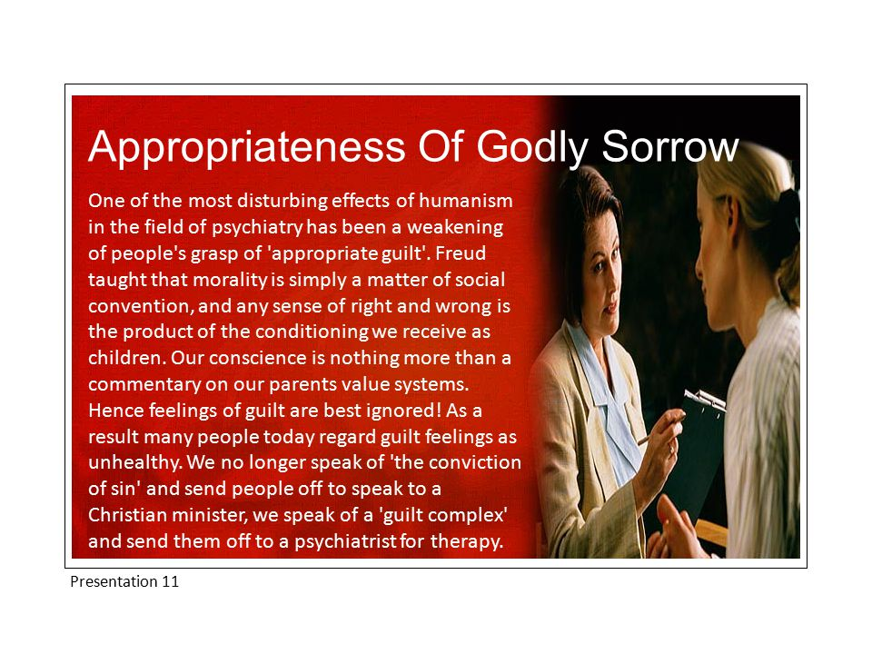 Presentation 11 Appropriateness Of Godly Sorrow Have you heard Anna Russell s Psychiatric Folk Song'.
