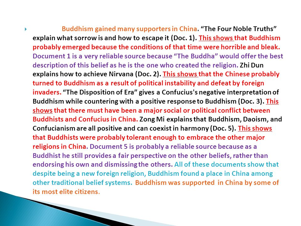 Over time, the acceptance of Buddhism in China declined and was rejected by imperial authority.