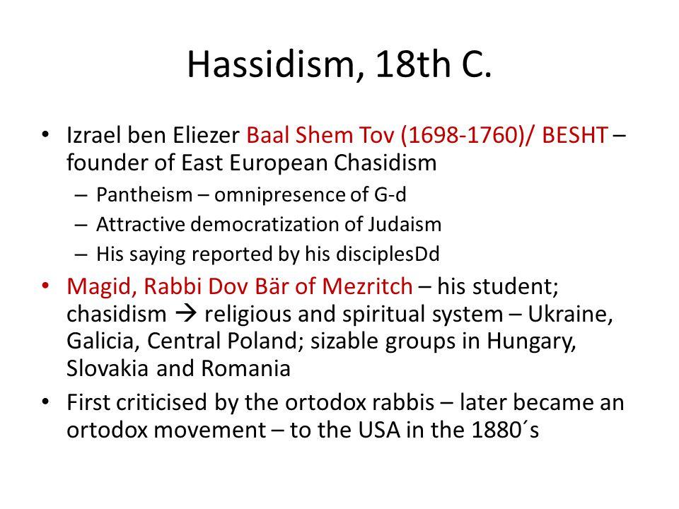 Hassidism, 18th C.