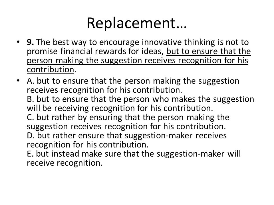 Replacement… 9.