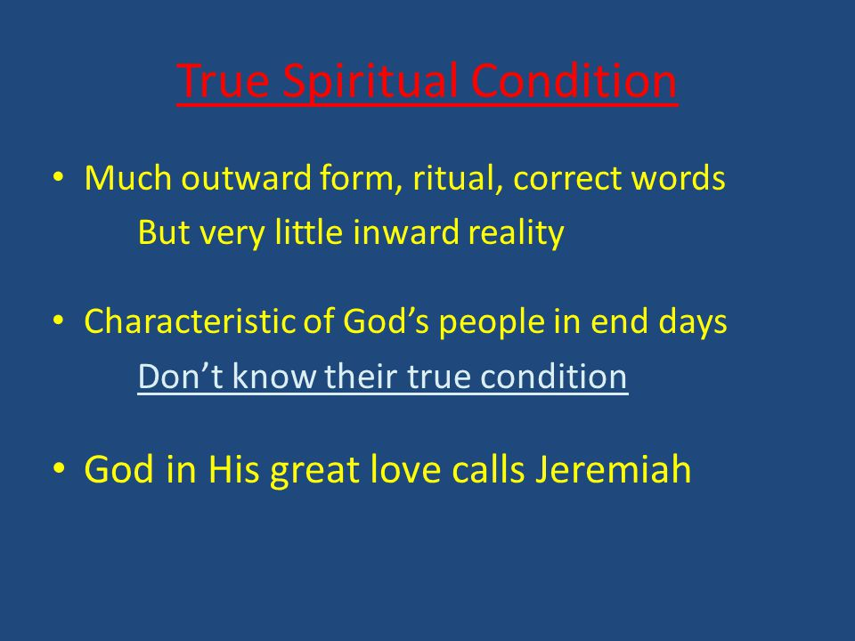 Jeremiah the Person Jeremiah 1 Lord forms Jeremiah Lord prepares Jeremiah Lord comforts Jeremiah Lord equips Jeremiah Lord empowers Jeremiah Lord calls Jeremiah to respond