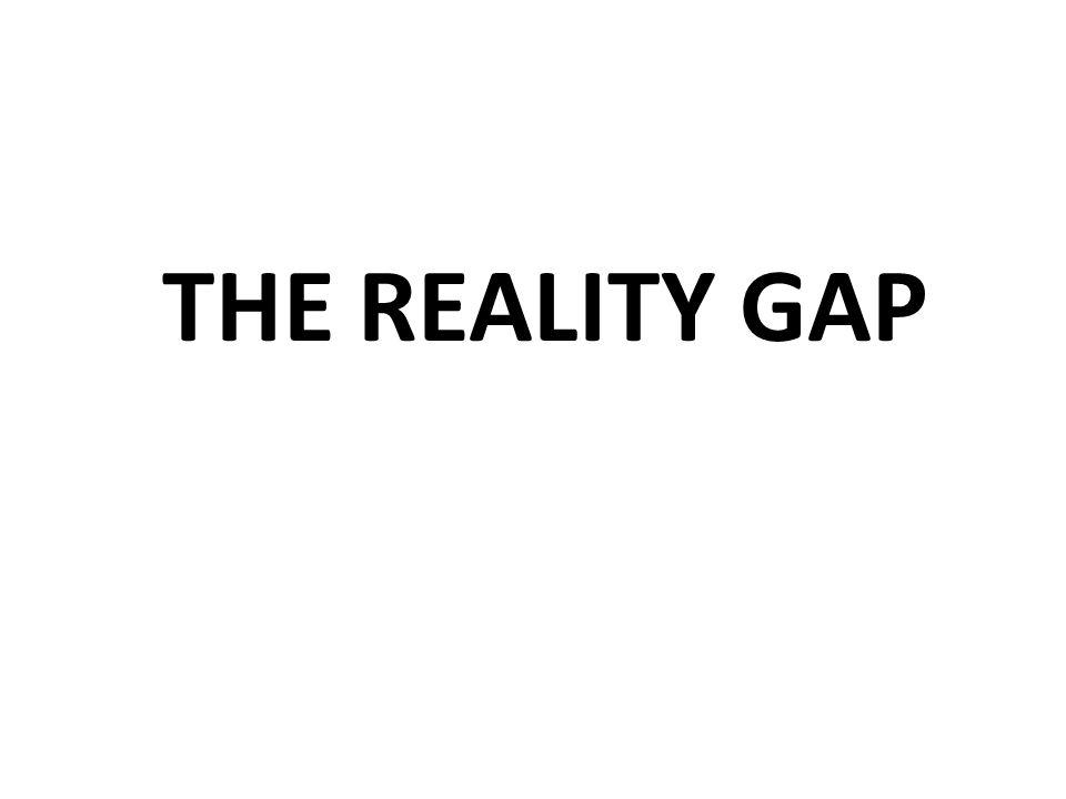 THE REALITY SLAPTHE REALITY GAP