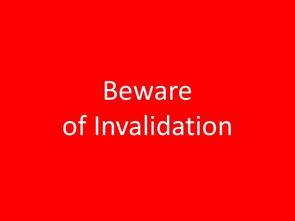 Find The Treasure Beware of Invalidation