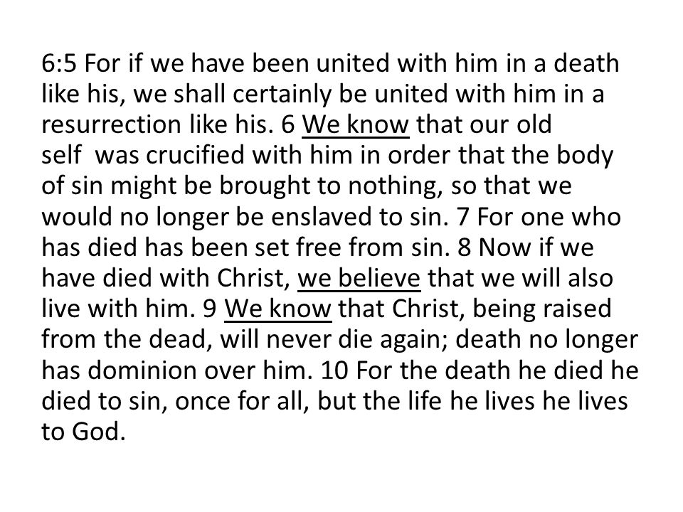 CHRIST IN YOU – YOU IN CHRIST 20 I have been crucified with Christ.