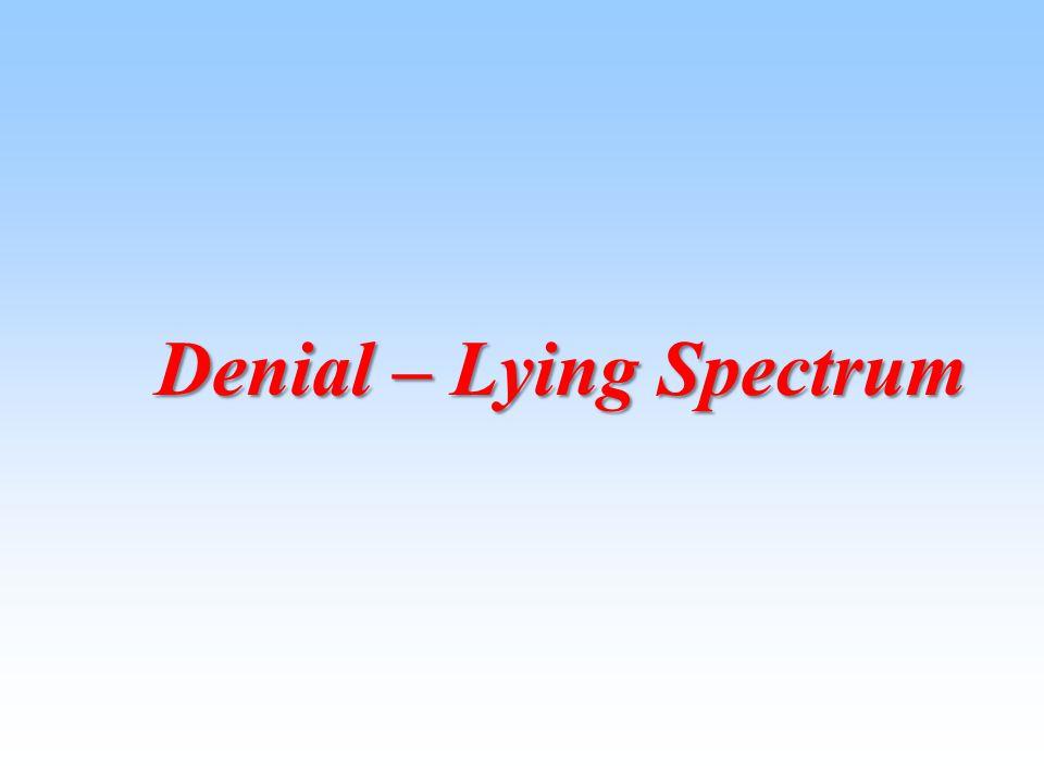 Denial – Lying Spectrum Denial – Lying Spectrum