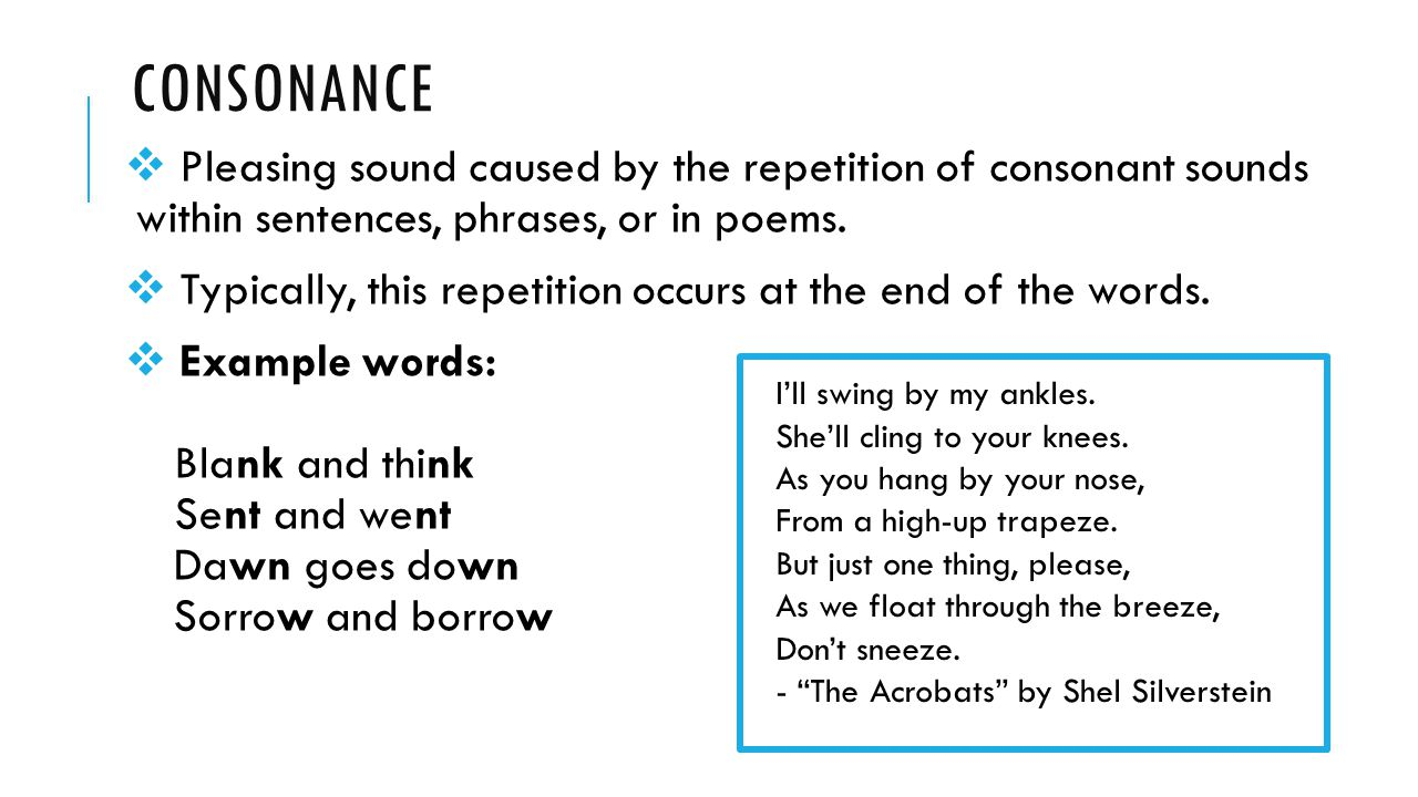 Worksheets Example Of Rhyming Words In Sentence sound devices consonance assonance and internal rhyme ppt download pleasing caused by the repetition of consonant sounds within sentences phrases