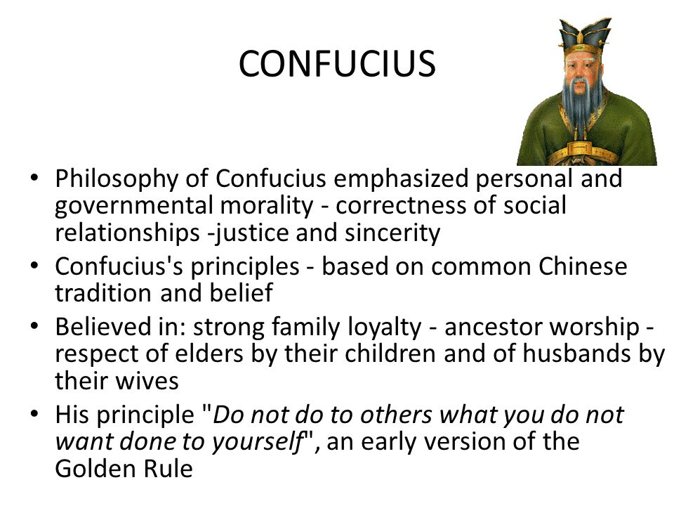 Confucius believed order, harmony, good government could be restored if society were organized around the: FIVE KEY RELATIONSHIPS 1.