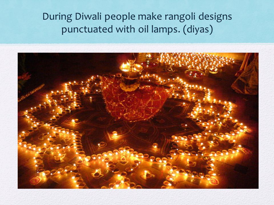 One of the most important functions of rangoli is the welcoming of Goddess Lakshmi during Diwali.