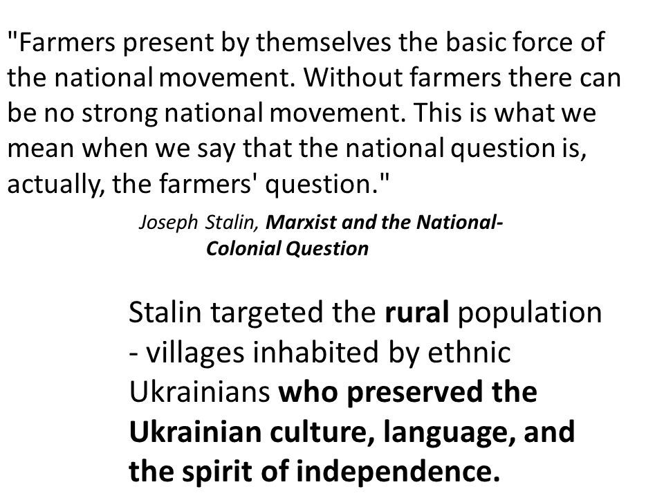 Farmers present by themselves the basic force of the national movement.