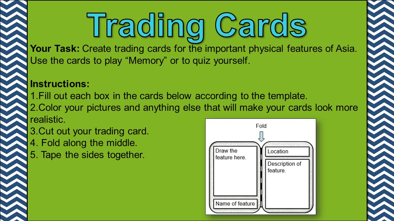 Your Task: Create trading cards for the important physical features of Asia.