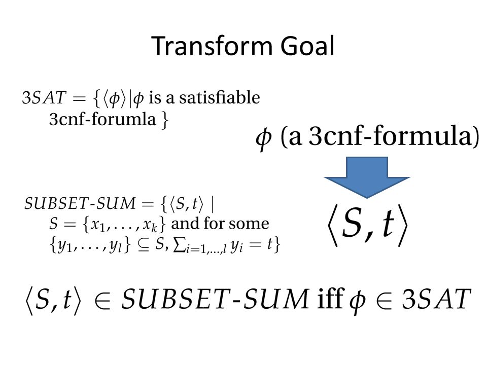 Transform Goal