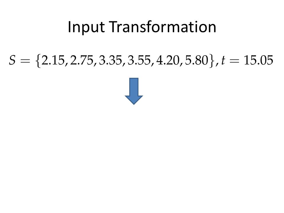 Input Transformation