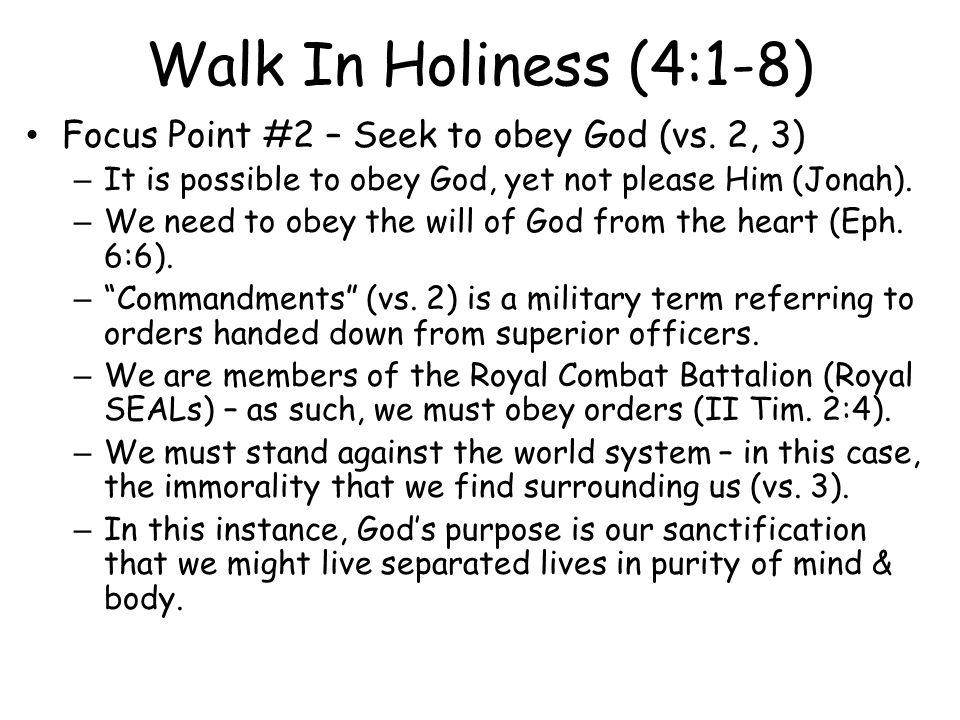 Focus Point #3 – Seek to glorify God (vs.4, 5) – Know pres.