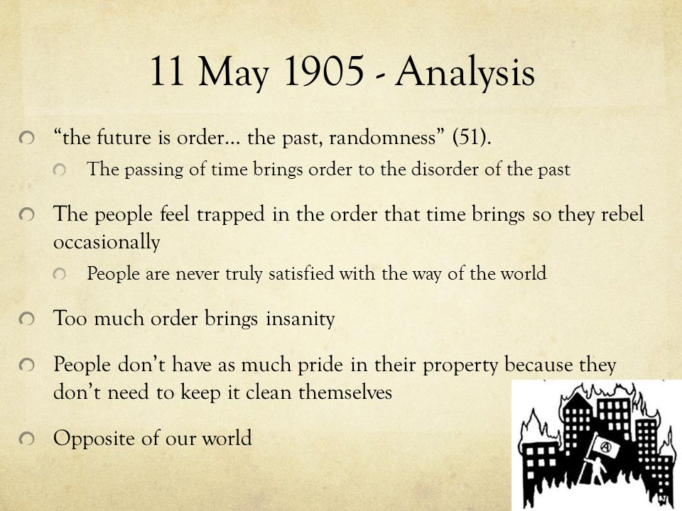 11 May 1905 - Analysis the future is order… the past, randomness (51).