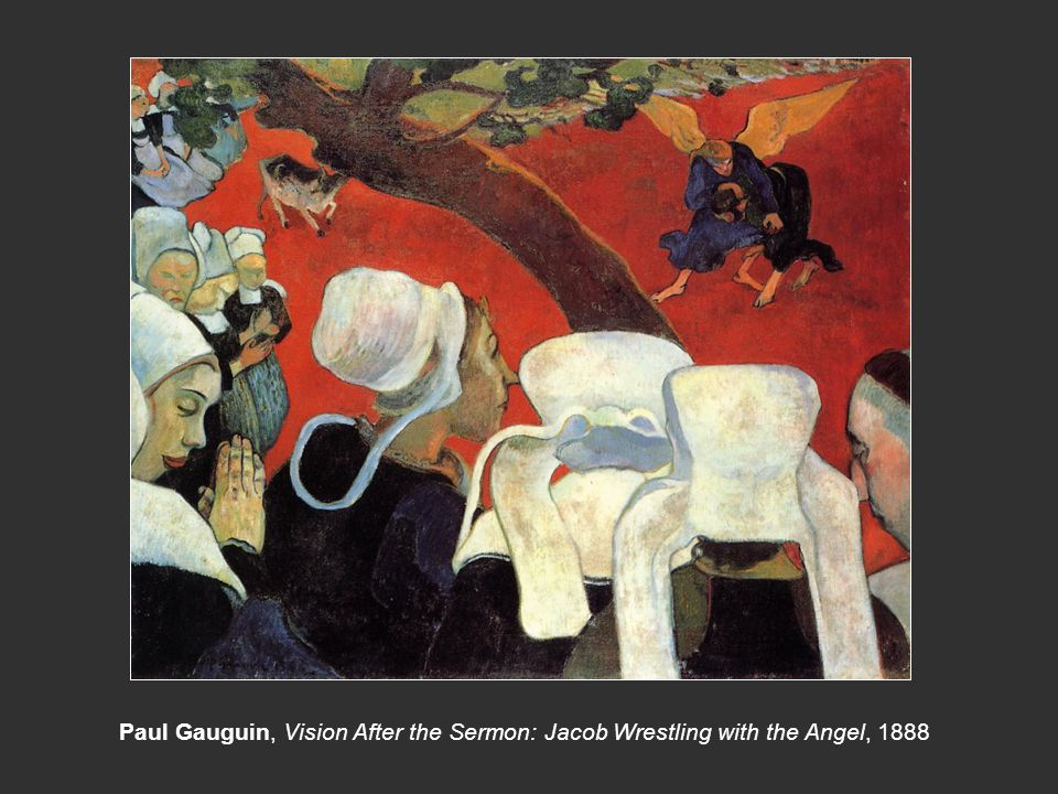Paul Gauguin, Vision After the Sermon: Jacob Wrestling with the Angel, 1888