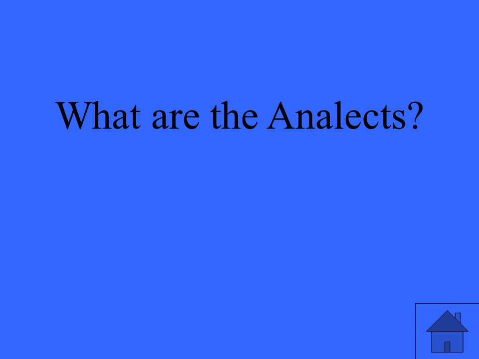 What are the Analects?