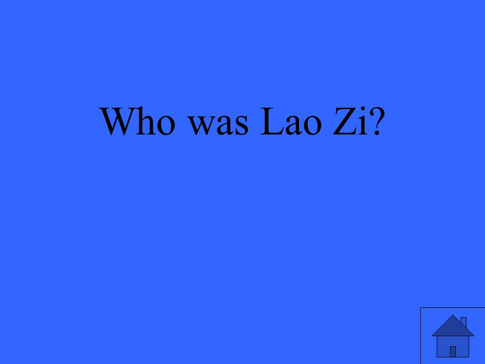 Who was Lao Zi?